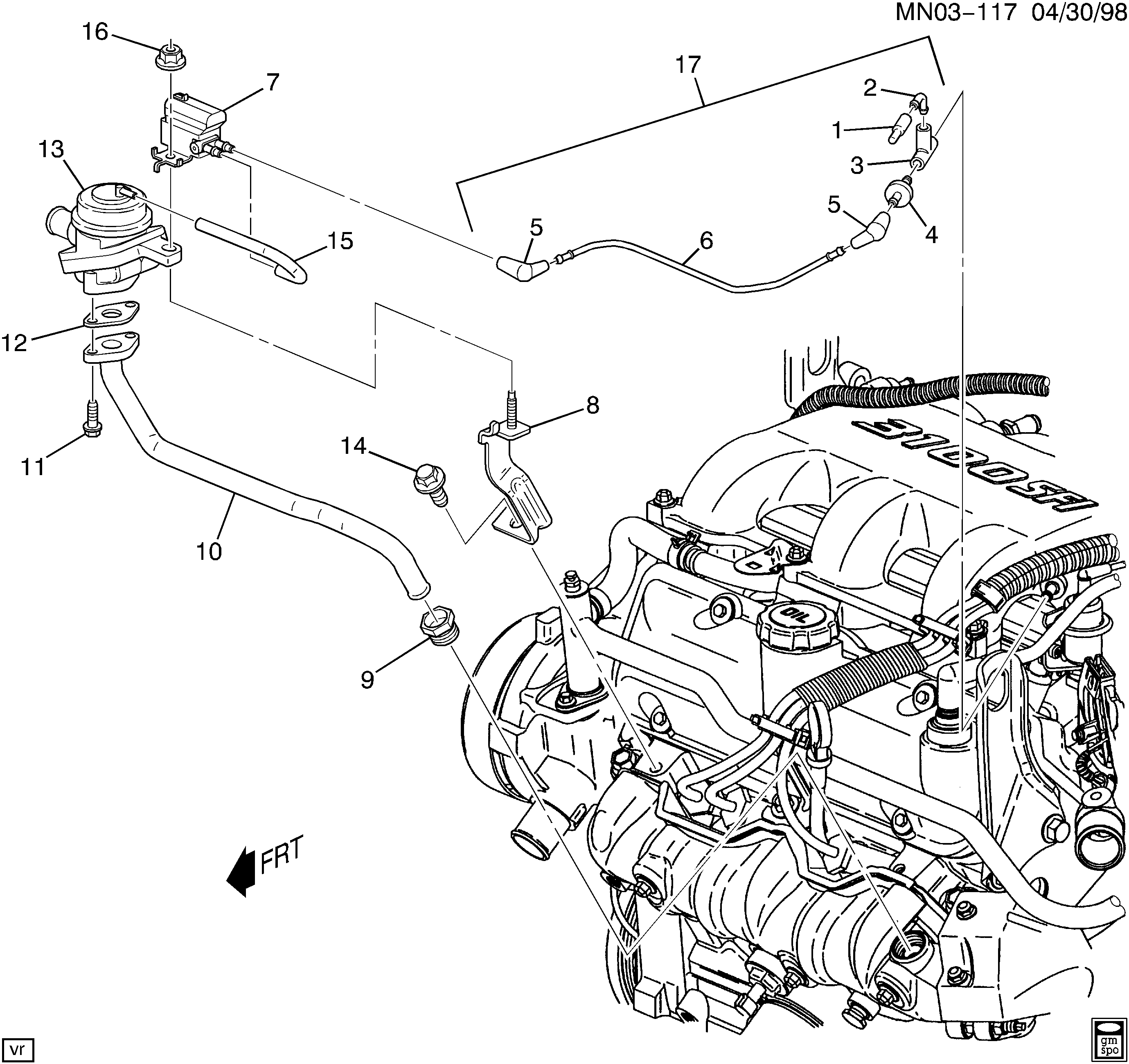 2000 Chevy S10 Secondary Air Injection System Diagram