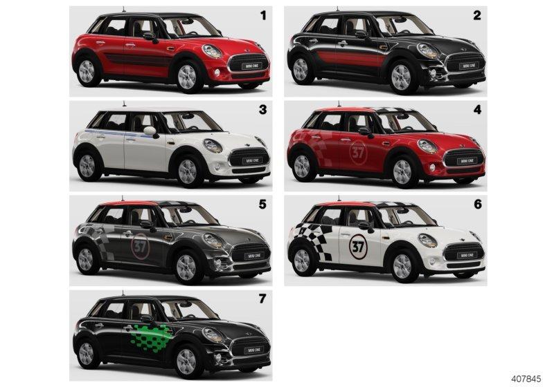 Mini Cooper Hc боковые полосы F5x Bmw Etk Online Driveby